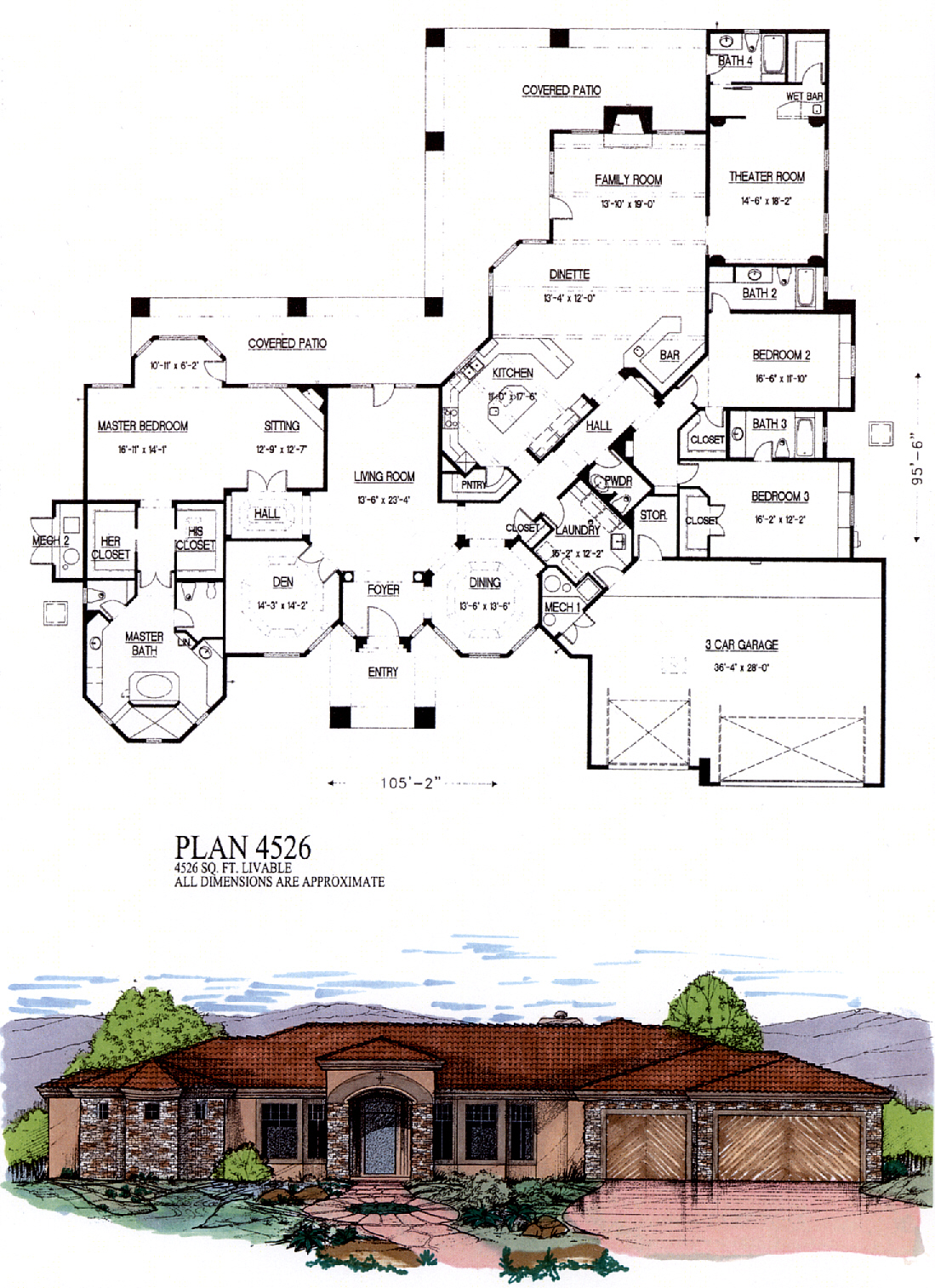 4500 to 6000 square feet for 6000 square foot house plans